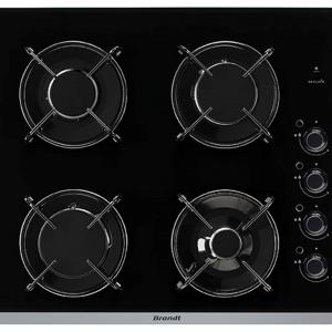 Achat plaque de cuisson 4 feux noir marque brandt